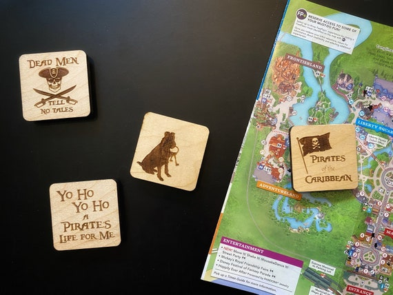 Pirates of the Caribbean Wooden Magnets - Disney Home Decor