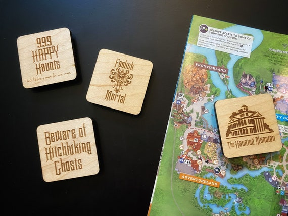 Haunted Mansion Wooden Magnets - Disney Home Decor