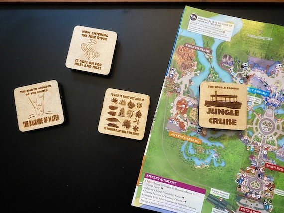 Jungle Cruise Wooden Magnets - Disney Home Decor