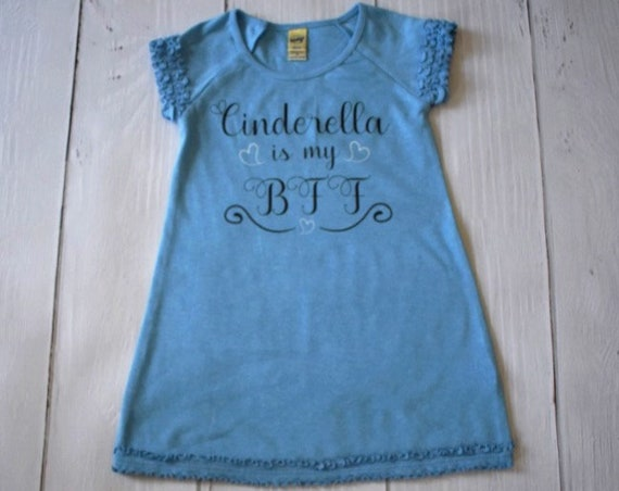 Cinderella Is My BFF Girl's Dress / Disney Dress for Girls / Disney Shirt / Classic Disney /Disney Princess/Disney Gift Under 30 /Cinderella