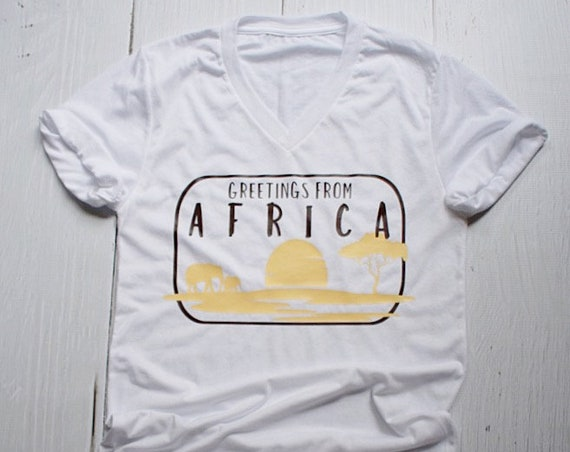 Greetings From Africa - Epcot World Showcase / Disney Shirt / Disney Vacation / Disney World / Animal Kingdom / Safari / Travel / Postcard
