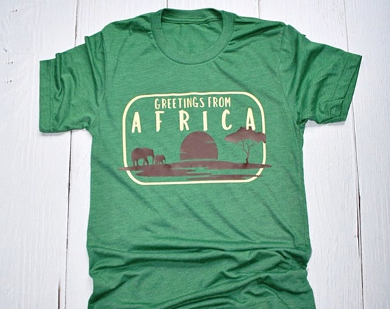 Greetings From Africa - Epcot World Showcase / Disney Shirt / Disney World / Disney Vacation/ Safari / Animal Kingdom / Travel / Postcard