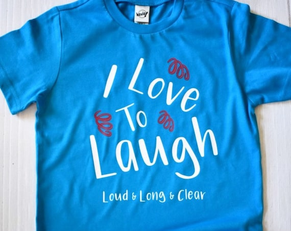 I Love To Laugh Kids Shirt / Disney Kids Shirt / Disney Girl Shirt / Mary Poppins / Disney Gift Under 30 / Laughter / Disney Vacation / Girl