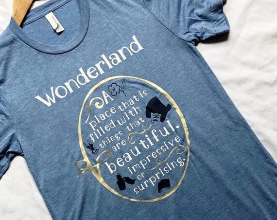 Wonderland Defined Shirt / Alice in Wonderland / Wonderland / Disney Shirt / Women's Disney Shirt / Disney Gift / Gift Under 30 /Disney Gift