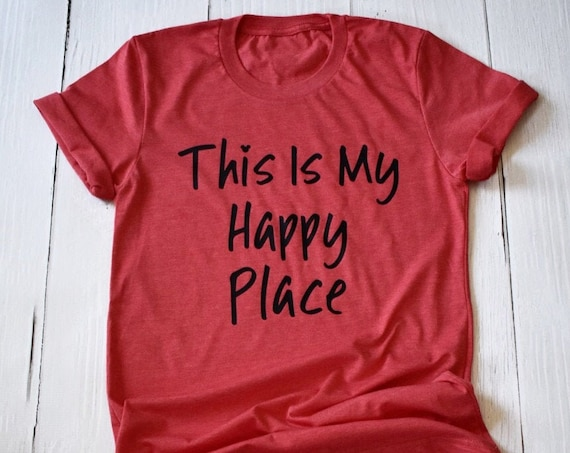 This Is My Happy Place with Hidden Mickey Shirt / Disney Shirt / Disneyland / Disney World / Disney Vacation / Disney Family / Mickey Mouse