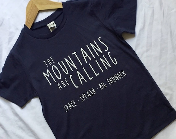 The Disney Mountains are Calling Kids Shirt / Kids Disney Shirt / Splash Mountain/ Space Mountain/Big Thunder Mountain/Disney Vacation Kids