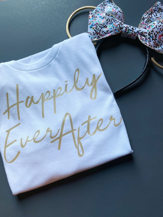 Happily Ever After - Wedding - Fairy Tale - Fireworks - Disney Vacation - Honeymoon - Anniversary - Once Upon A Time - Princess - Bride