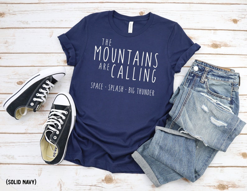 The Disney Mountains Are Calling Crew Neck Shirt / Splash / image 0