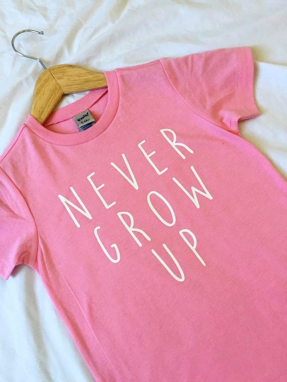 Never Grow Up Shirt / Girl Boy Disney Shirt / Kids Disney Shirt / Disney Shirt / Neverland / Peter Pan / Disney Gift / Gift Under 20 /