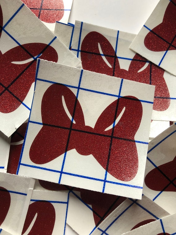 Minnie Bow Glitter Vinyl Decal / Disney Decal