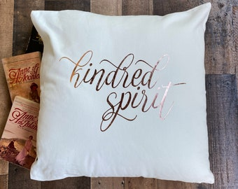 Kindred Spirit Throw Pillow Cover / Anne of Green Gables / Anne with an E