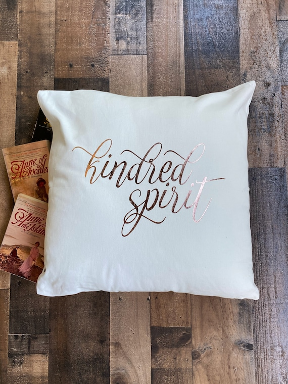 Kindred Spirit Throw Pillow Cover / Pillowcase / Sham / Anne of Green Gables / Anne with an E / Avonlea / Home Decor / Living Room / Bedroom