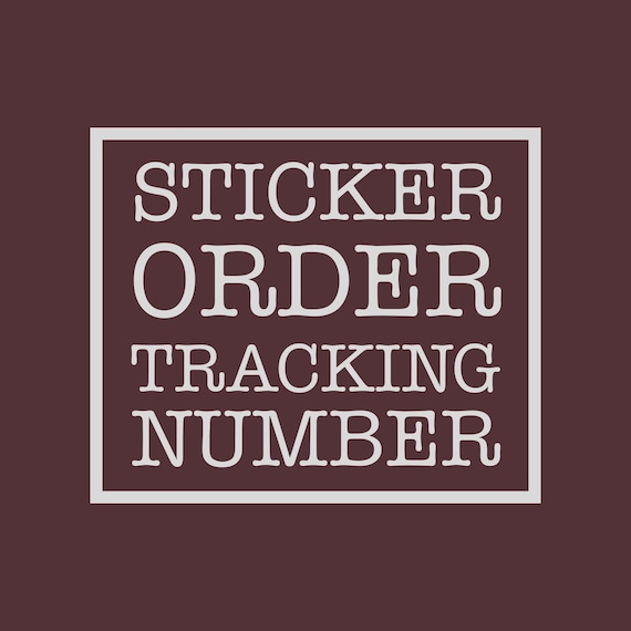Tracking Service for Sticker Only Order