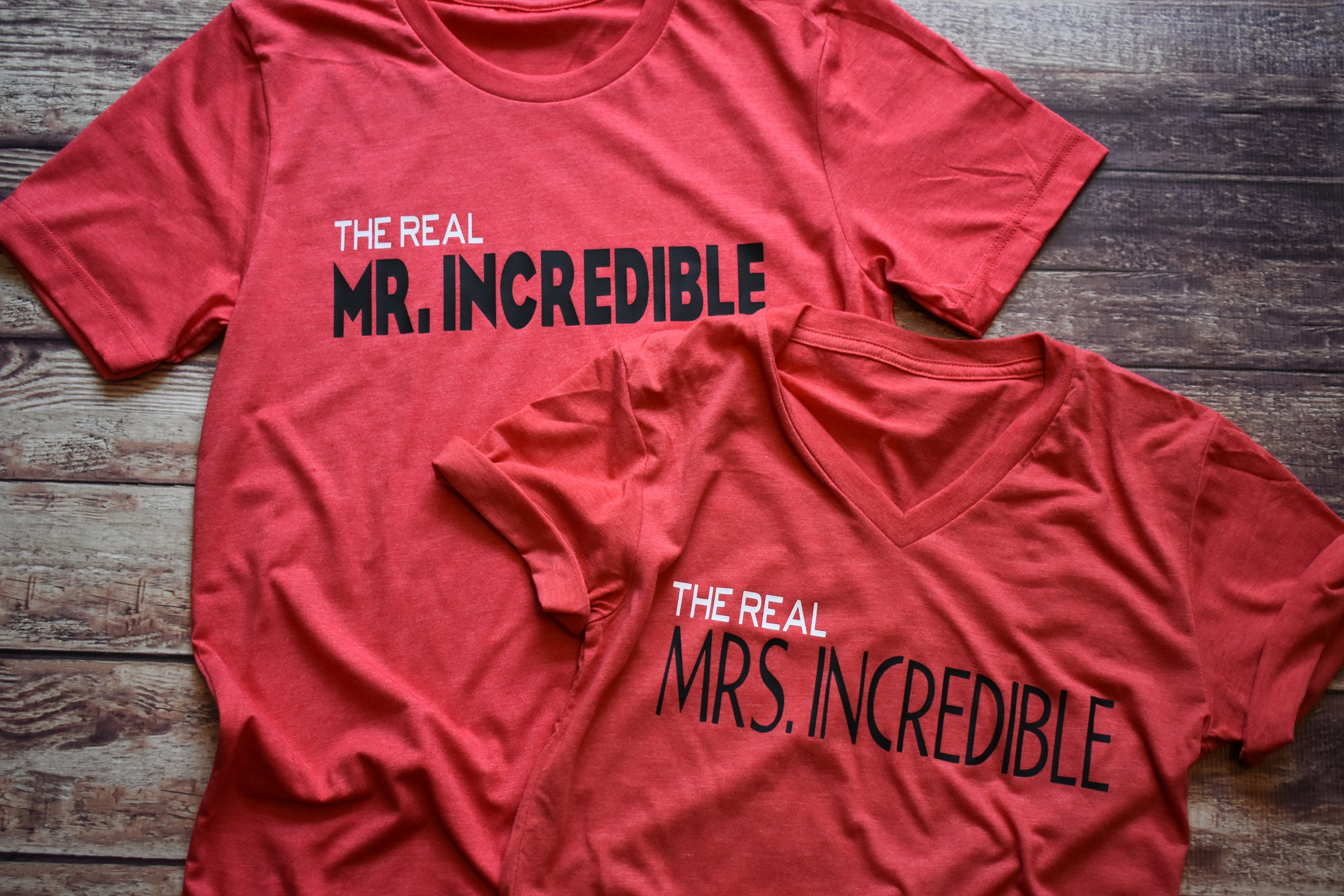 e0875f852 The Real Mr. and Mrs. Incredible Combo / Disney Shirt / Disney Couples Shirt  / The Incredibles / Mr Incredible /Pixar /Disney Mom/Disney Dad