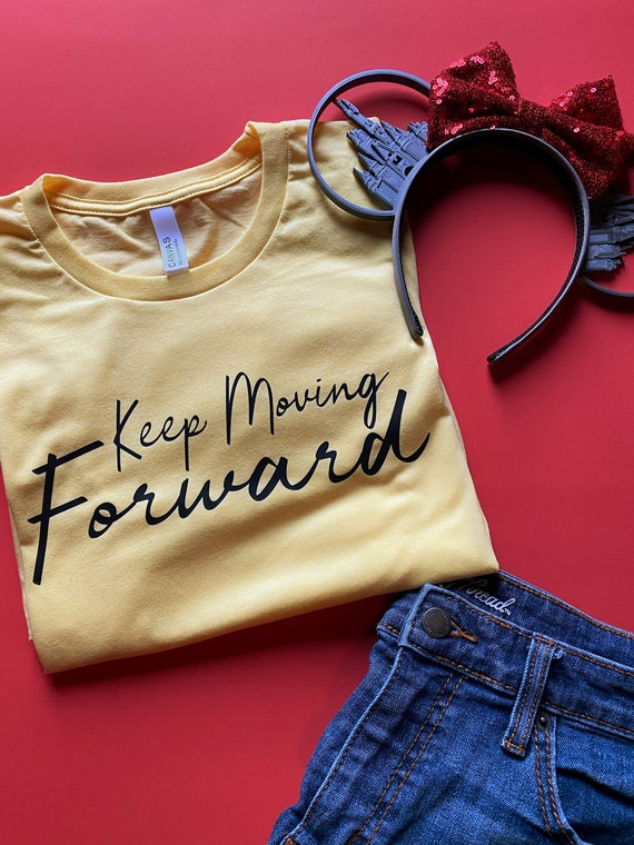 Keep Moving Forward - Walt Disney Quote - Meet The Robinsons - Disney Vacation - Inspiration - Gift Under 30 - Never Give Up - New Year