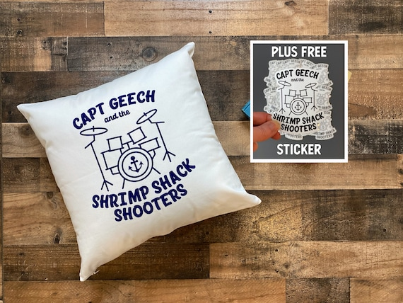 Captain Geech and the Shrimp Shack Shooters Throw Pillow Cover / Pillowcase / Home Decor / That Thing You Do / The Oneders  / The Wonders