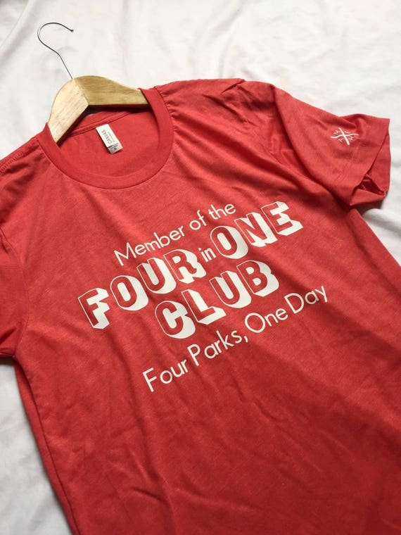Member of the 4 in 1 Club Red Shirt / Disney World Shirt / Adult Disney Shirt /Men Women Disney Shirt/Disney Shirt/Disney Gift/Gift Under 30
