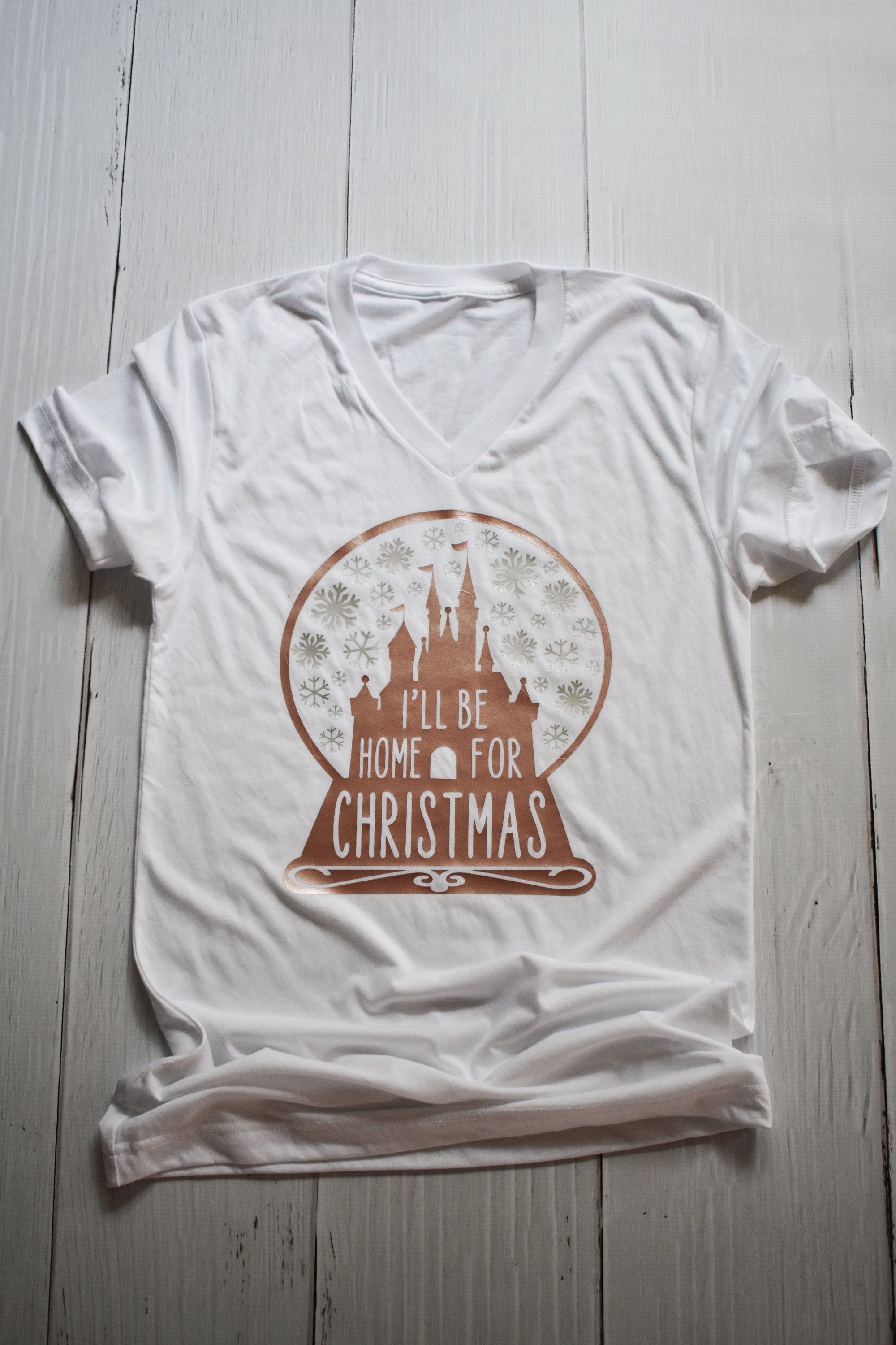 I\'ll Be Home For Christmas Shirt / Disney Christmas / Snow Globe ...