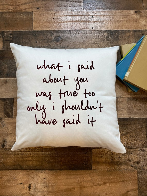 Anne of Green Gables Quote Throw Pillow Cover / Pillowcase / Anne with an E / Home Decor