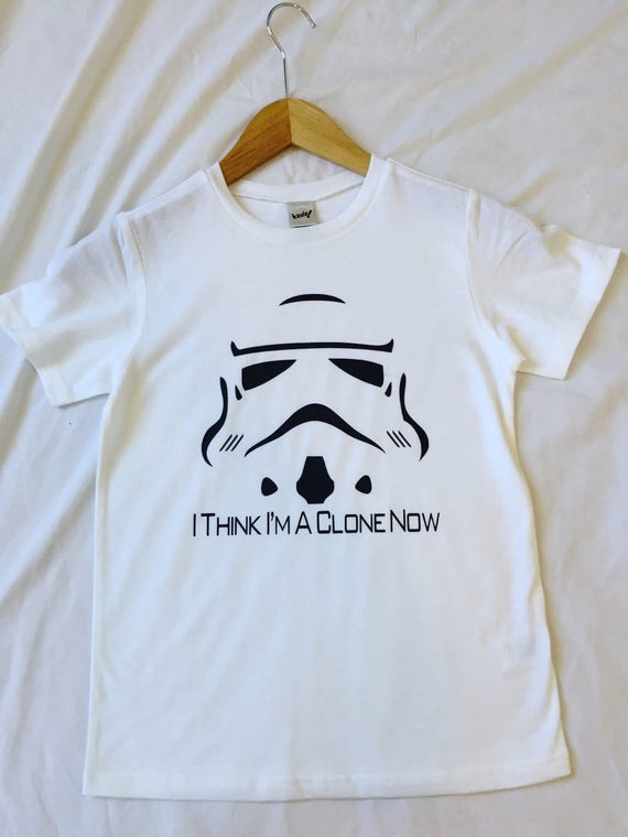 I Think I'm A Clone Now Kids Shirt / Kids Star Wars Shirt / Kids Disney Shirt / Stormtrooper Shirt / Star Wars/Disney / Boys Girls Star Wars