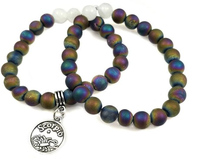 Titanium Quartz Gemstone Custom Bracelet/ EMF Protection Crystals/Blessed Bracelets