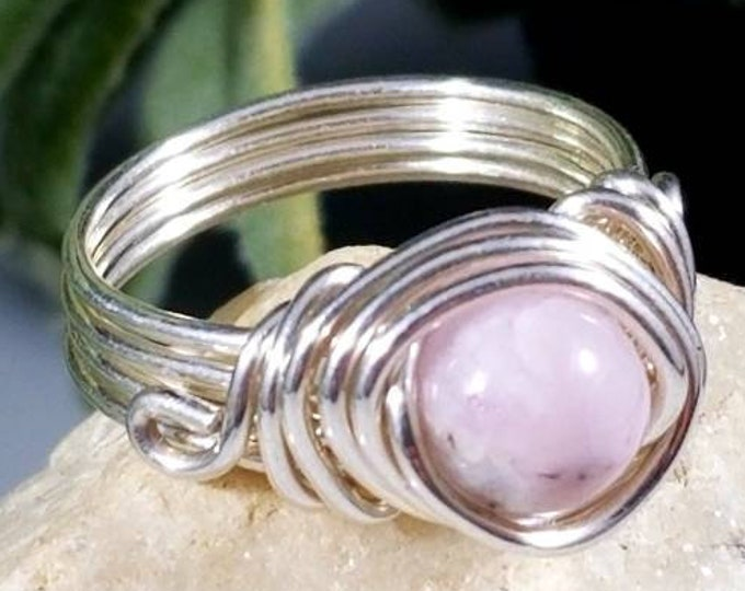 Pink Kunzite Rings/ Calming Crystals