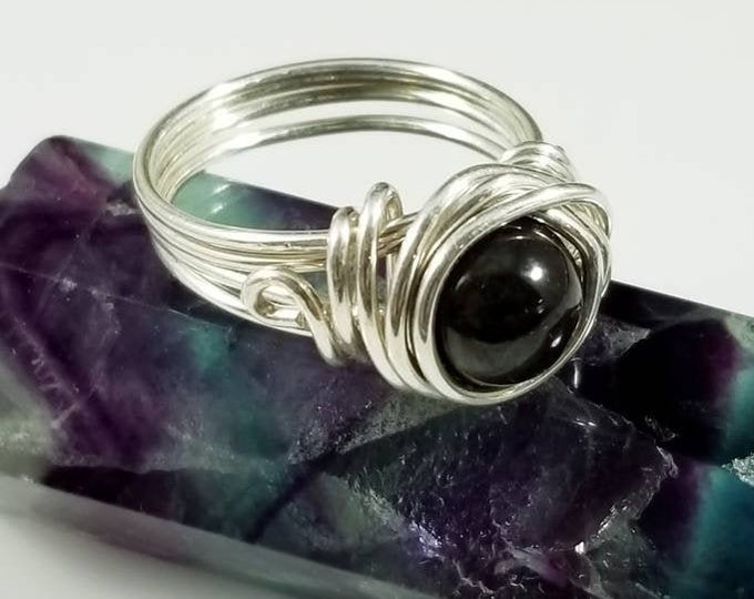 Sugilite Gemstone Rings/ Strength and Empowering Crystals/ Aura Engery Protection