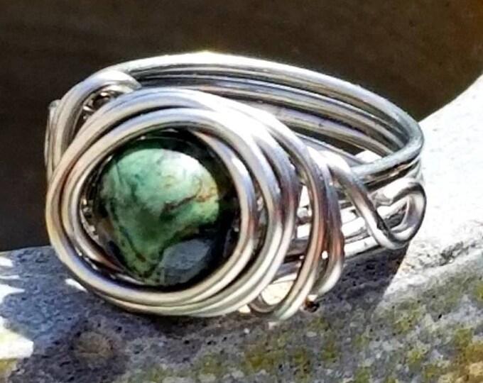 Kambaba Jasper Rings/ Tranquillity Gemstones/ Grounding