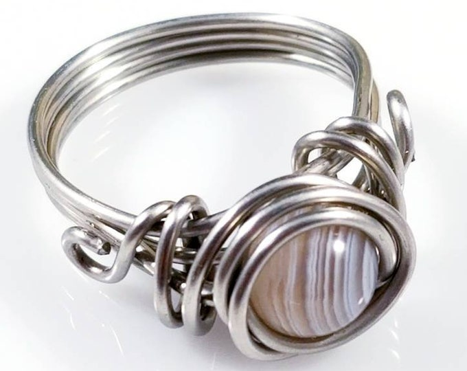 Botswana Agate Rings/ Inner Peace Crystals