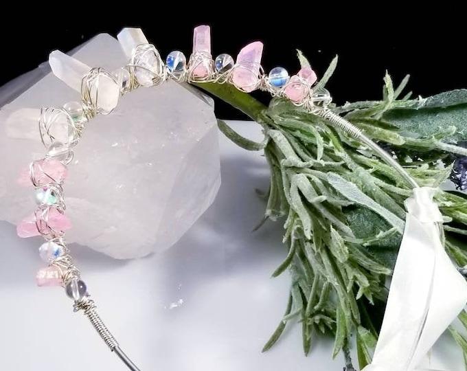 Aura Crystal Tiaras/ Prince Crown/ Happiness and Balancing Crystals