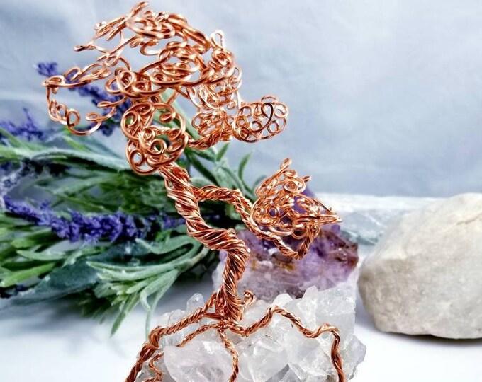 Quartz Copper Tree of Life/ Quartz Sculpture