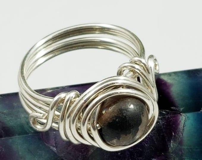 Chiastolite Rings/ Negativity Blocking Gemstone/ Creativity Gems