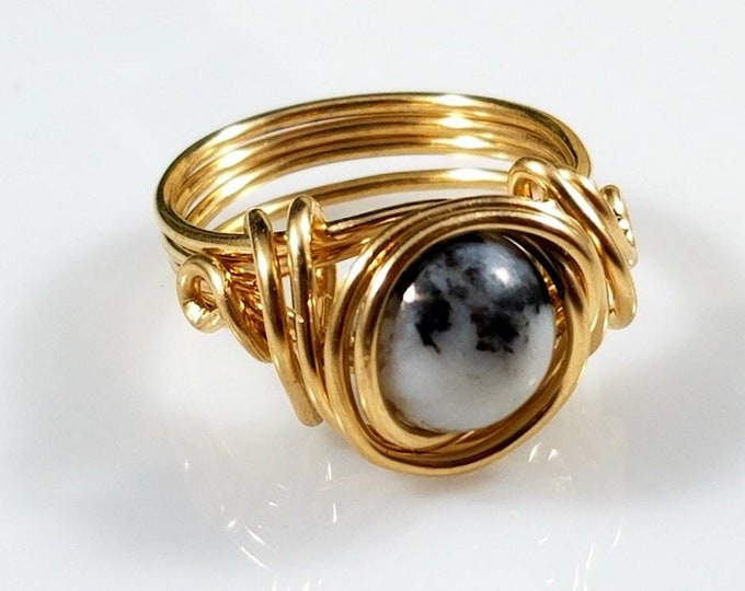 Zebra Agate Rings/Yin Yang Balance Crystal