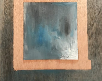 Against the Grain #3: Original Oil Painting on Wood Panel