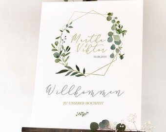 Welcome Sign, Wedding, Poster, Welcome, A3 - Series 39