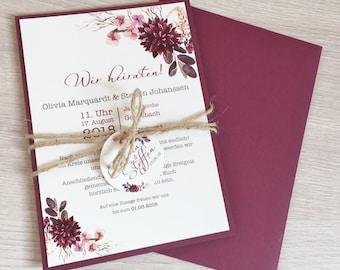 Einladung Hochzeit Etsy