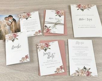 Einladung Hochzeit Boho Etsy