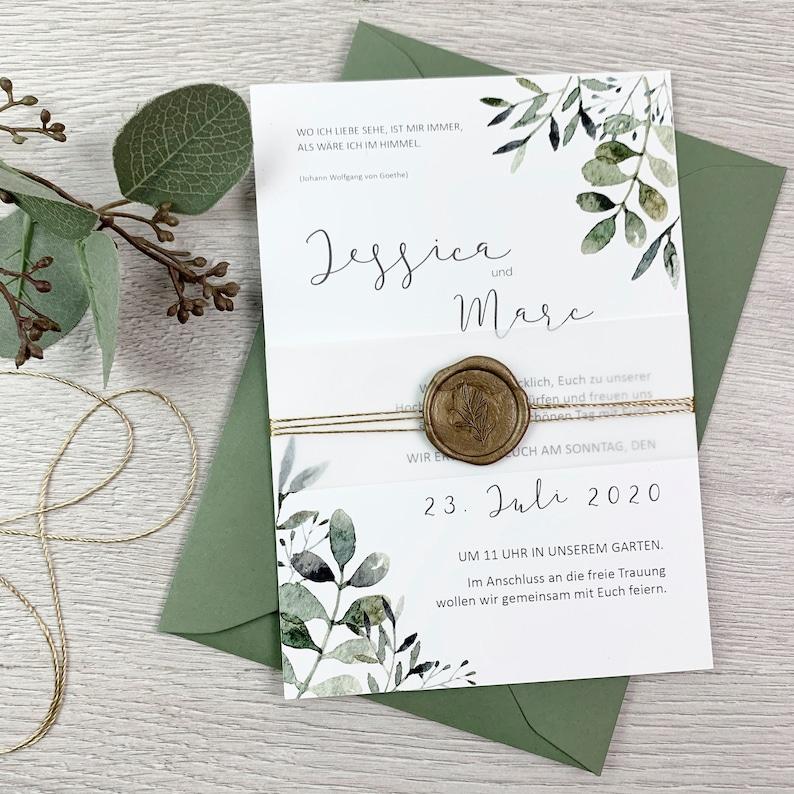 Greenery Hochzeitseinladungen