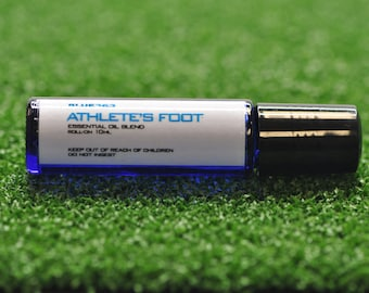 10ml ATHLETE'S FOOT essential oil on roll-on bottle