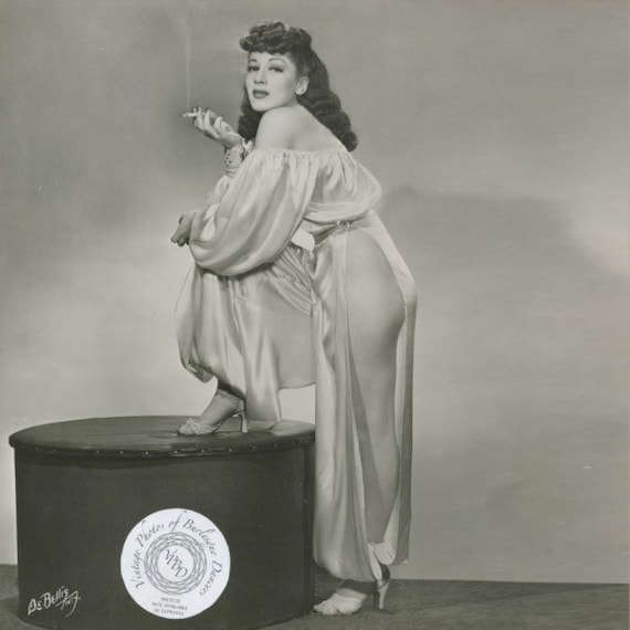 Vintage 1940s Belly Dancer Costume - Harem - Pink… - image 10