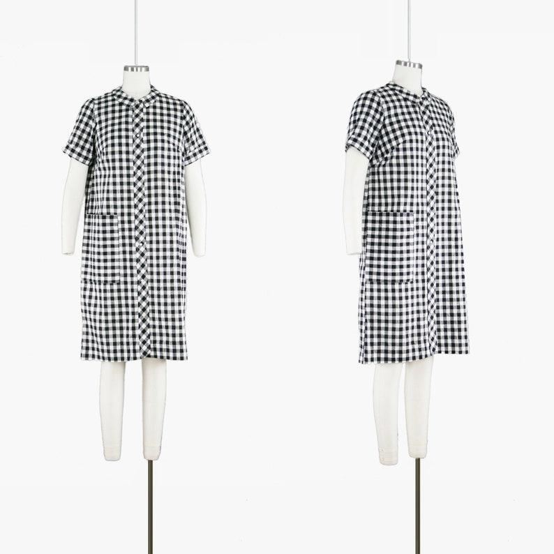 7eb874cd609 Vintage 1950s DayTimer Dress Black   White Gingham