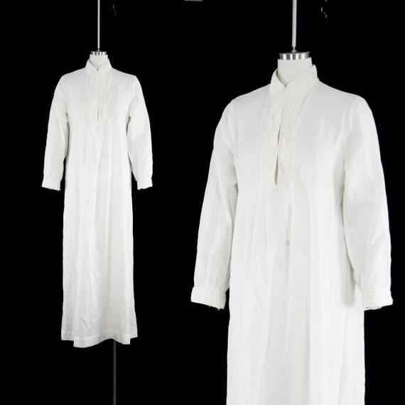 Vintage 1970s Christian Dior Robe White Cotton Long   Etsy
