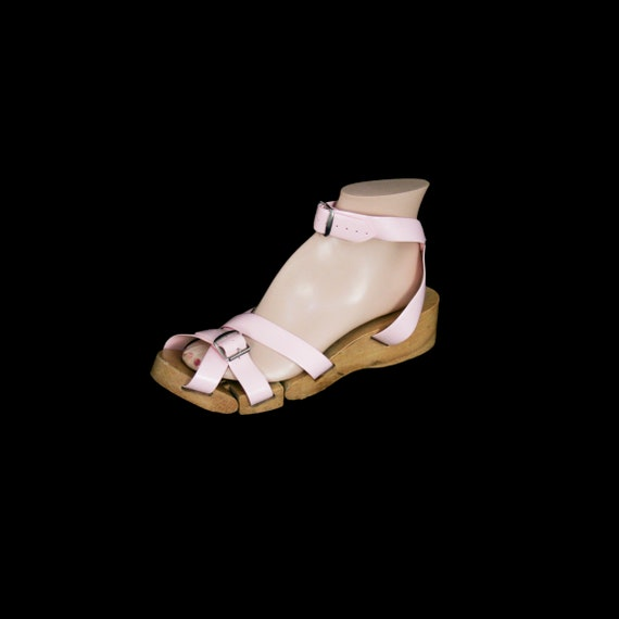 Vintage 1950's Flexiclogs - Baby Pink  - Rare - W… - image 1