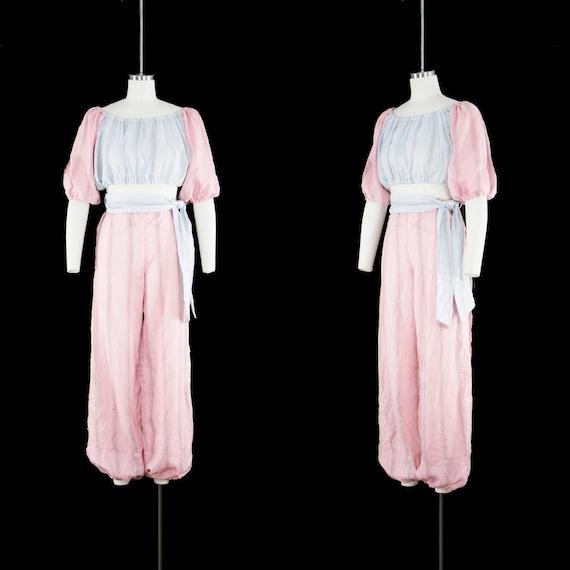 Vintage 1940s Belly Dancer Costume - Harem - Pink… - image 2