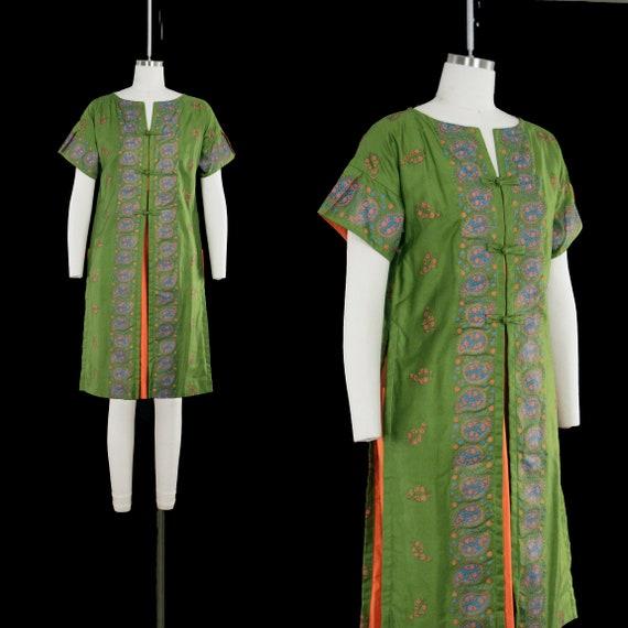 Vintage 1960's Waltah Clarke Dress - Olive Green -