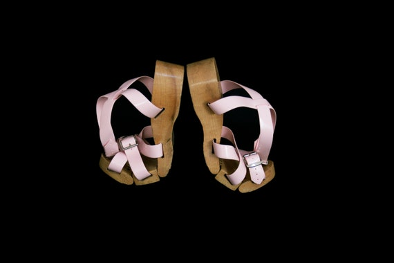 Vintage 1950's Flexiclogs - Baby Pink  - Rare - W… - image 5