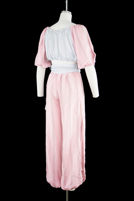 Vintage 1940s Belly Dancer Costume - Harem - Pink… - image 6