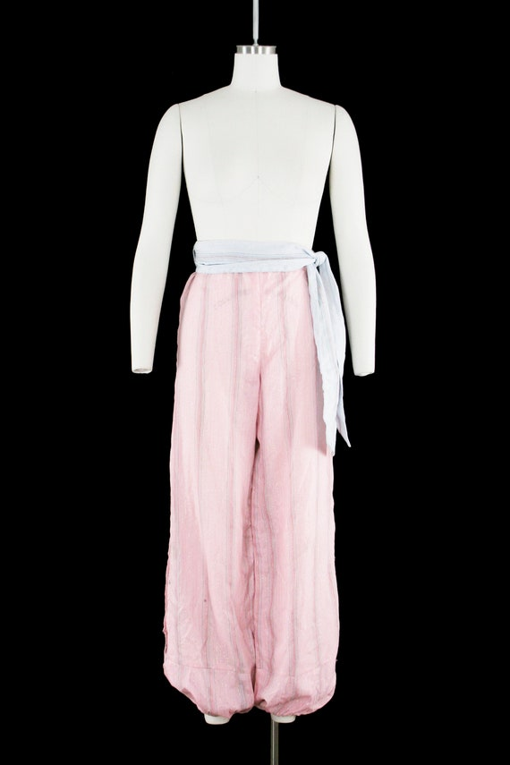 Vintage 1940s Belly Dancer Costume - Harem - Pink… - image 3