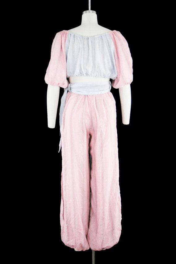 Vintage 1940s Belly Dancer Costume - Harem - Pink… - image 5