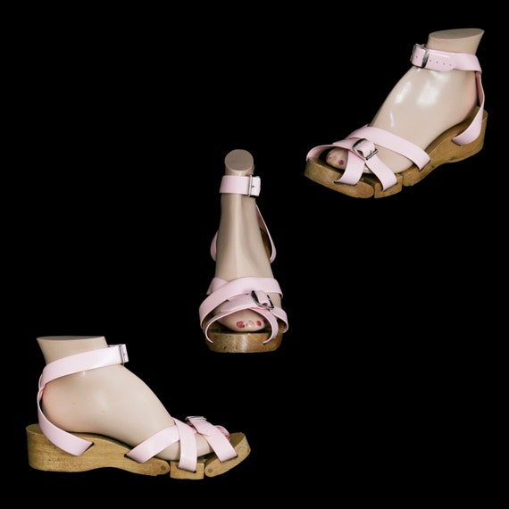 Vintage 1950's Flexiclogs - Baby Pink  - Rare - W… - image 2